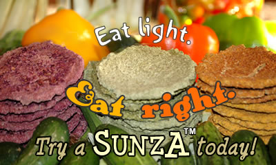 Eat Light. Eat Right. Try a SUNZA today!